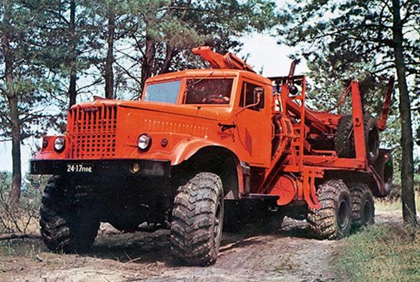 Лесовоз КРАЗ-255Л фото
